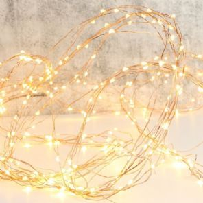 Mains Powered Wire 'Waterfall' String Lights